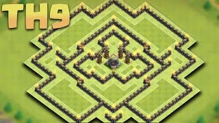 getlinkyoutube.com-Clash of Clans - New Town hall 9 (TH9 DE) Dark Elixir Farming Base 2016 + Replays
