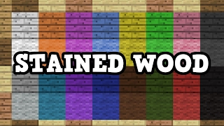 getlinkyoutube.com-Minecraft - Stained Wood Explained, Add Ons (QnA)