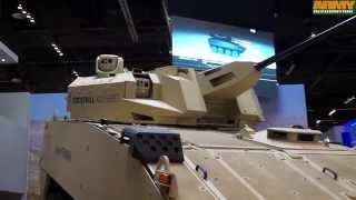 getlinkyoutube.com-Cockerill 3000 Series weapon system CMI Defence at IDEX 2015 exhibition Abu Dhabi UAE