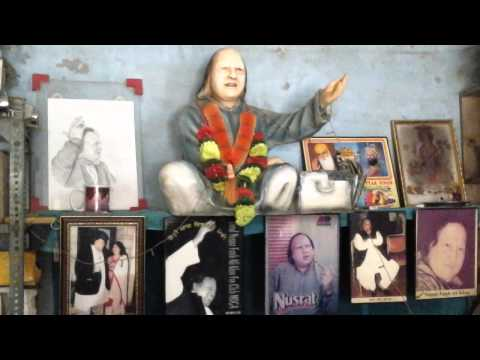 Nusrat Fateh Ali Khan A Shop in Moga Punjab INDIA