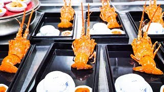 INSANE LUXURY Chinese Seafood - $300 HUGE Chinese Seafood FEAST - LOBSTER, ABALONE, EEL, and CAVIAR! width=