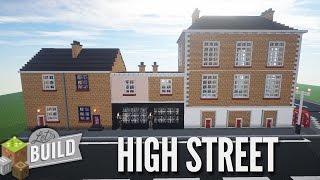 getlinkyoutube.com-Minecraft: High Street Shops & Bridge - Let's Build Showcase
