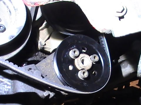 Замена шкива и ремня насоса гидроусилителя руля. Passat B3