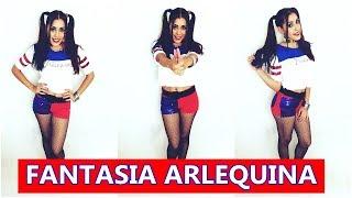 getlinkyoutube.com-FAÇA SUA FANTASIA GASTANDO POUCO - FANTASIA DE ARLEQUINA|Suicide Squad Tutorial