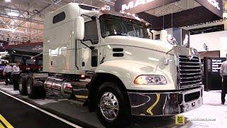 getlinkyoutube.com-2016 Mack Pinnacle CXU613 Axle Back 70inch Mid Rise Sleeper Truck - Exterior and Cabin Walkaround