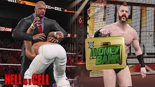 getlinkyoutube.com-WWE Hell in a Cell 2015 - Seth Rollins Retains WWE Title  & Sheamus Cashes Money in The Bank!!