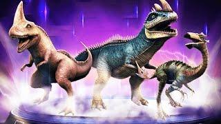 getlinkyoutube.com-Max Level Hybrids RAJASTEGA Feeding - Jurassic World The Game Massive Update
