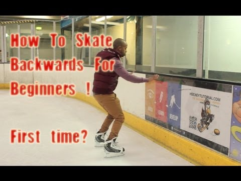 How To Skate Backwards For Beginners - First Time Backward I