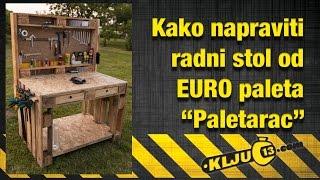 getlinkyoutube.com-Kako napraviti radni stol od euro paleta - Paletarac