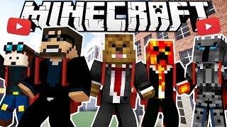 YOUTUBER HIGH SCHOOL MODDED HIDE AND SEEK - Minecraft Modded MInigame