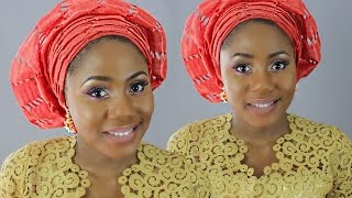 getlinkyoutube.com-GELE TUTORIAL || How To Tie Small Gele (ASO-OKE) Nigerian Wedding Guest.