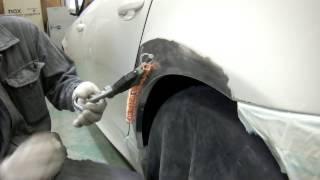 getlinkyoutube.com-【その3】東京都 東大和市よりご来店 BMW 525iの板金・塗装・修理作業です。【板金塗装なら東京立川市のガレージローライド】