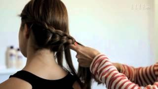getlinkyoutube.com-Peinado con recogido trenzado