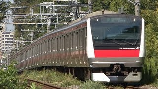 getlinkyoutube.com-(HD) 京葉線をめざす!!通勤形電車E233系5000番台 (Wine red line commuter train)