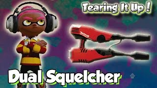 getlinkyoutube.com-Splatoon Multiplayer - Tearing It Up W/ Dual Squelcher (So many Quadruple Killsl!)