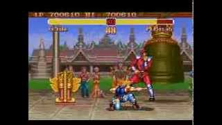 Super Street Fighter II (SNES)   Guile VS M.Bison + Ending