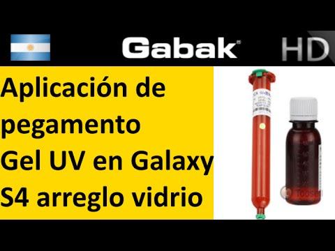 Colocando el pegamento gel UV LOCA en galaxy S4 paso a paso