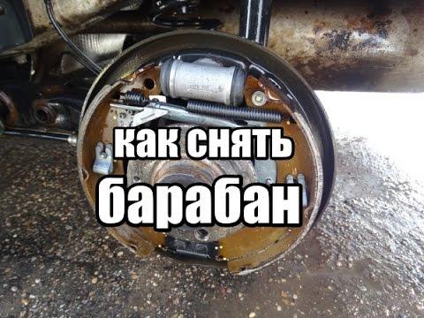 Как снять тормозной барабан PR-1KH/VW polo sedan, пробег 45,000км