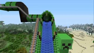getlinkyoutube.com-Minecraft Giant WaterSlide