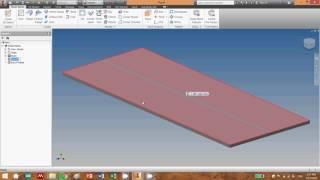 Inventor 2014 Sheet Metal Fold feature
