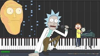 getlinkyoutube.com-Get Schwifty - Rick and Morty [Piano Tutorial] (Synthesia)