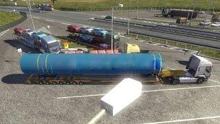 getlinkyoutube.com-ETS2 - OVERSIZE LOAD | Volvo 10x8 + Police mod (Euro Truck Simulator 2)