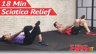 18 Min Sciatica Exercises for Leg Pain Relief - Sciatica Relief & Treatment for Sciatic Nerve Pain