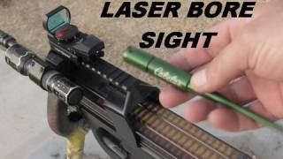 Laser Bore Sighting a Red Dot Sight