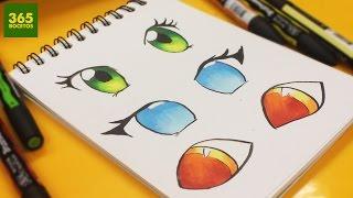 getlinkyoutube.com-COMO COLOREAR OJOS ANIME CON MARCADORES WINSOR & NEWTON - How to colour eyes