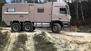 getlinkyoutube.com-6x6 Mb Actros truck expeditionvehicle first off-road test ride