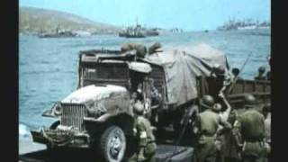 WWII INVASION OF SOUTHERN  FRANCE  2 OF 3  RARE COLOR FILM