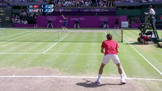 getlinkyoutube.com-[HD] Roger Federer vs. Andy Murray Olympic 2012 Final HIGHLIGHTS