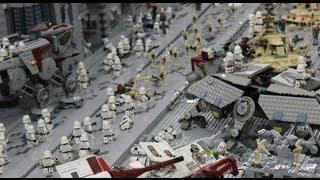 getlinkyoutube.com-LEGO Clone Wars Base - Battle of Coruscant