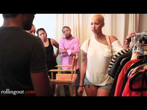 Amber Rose Looking at Dresses for her Photo Shoot