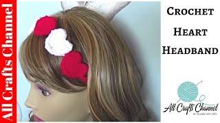 getlinkyoutube.com-Crochet Heart Headband