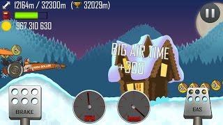 getlinkyoutube.com-Hill Climb Racing \ North Pole \ 32832 meters on Dragster + Funny Bugs