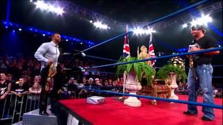 getlinkyoutube.com-AJ Styles crashes the coronation of Magnus (January 2, 2014)