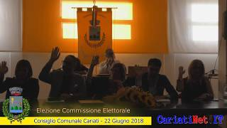 ELEZIONE COMMISSIONE ELETTORALE - Consiglio Comunale Cariati 22 giugno 2018