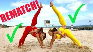 Big sisters VS Little sisters EXTREME YOGA CHALLENGE! REMATCH! width=