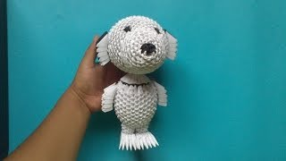 getlinkyoutube.com-Origami 3D Snoopy