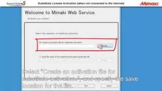 Mimaki RasterLink Pro5 Substitute License Activation