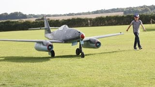 getlinkyoutube.com-① GIANT 1/3 SCALE RC MESSERSCHMITT ME 262 FIGHTER - ALI MACHINCHY ONBOARD CAMS  - 2014
