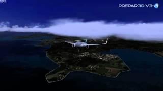 getlinkyoutube.com-Prepar3D V3 - PMDG 777 - 4K - testing high graphics settings