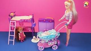 getlinkyoutube.com-Беременная кукла с коляской и щенком. Игровой набор / Pregnant doll with a puppy. Game set for girls