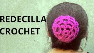 getlinkyoutube.com-Redecilla para rodete del cabello en tejido crochet tutorial paso a paso.