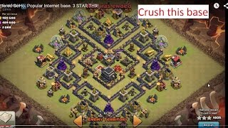 "getlinkyoutube.com-Shattered GoHo. Popular ""V MOAT""  base. 3 STAR TH9!"