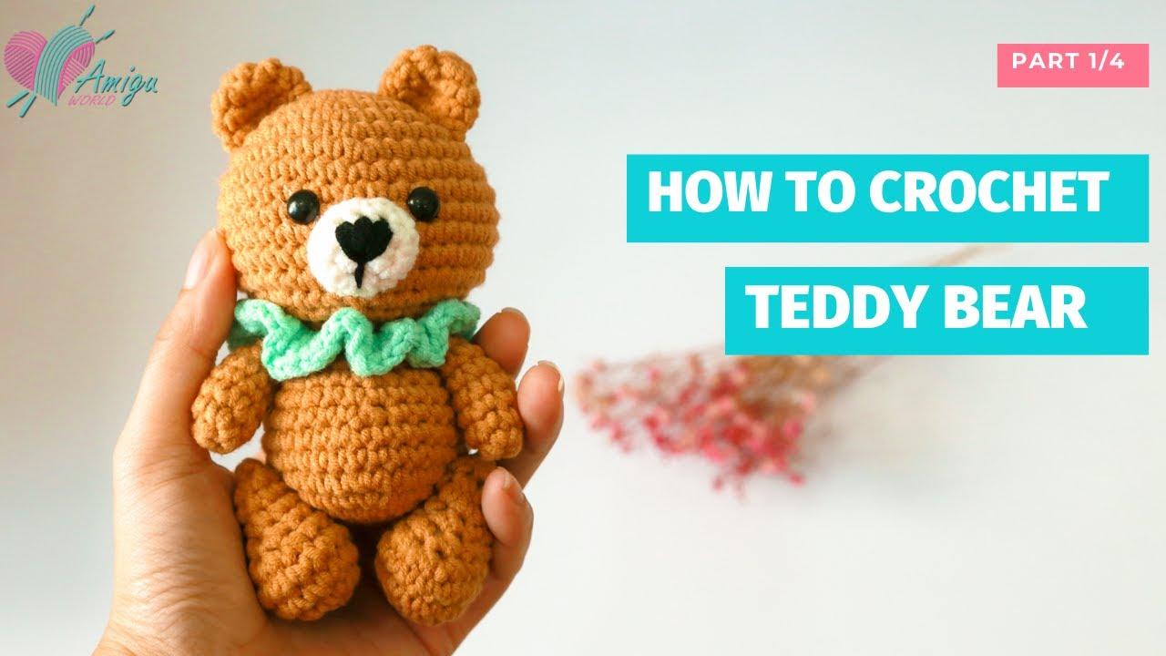 Teddy bear crochet amigurumi pattern by Amigu World (P1)