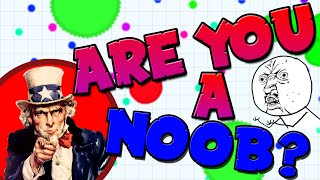 15 WAYS TO TELL IF YOU ARE A NOOB IN AGAR.IO!