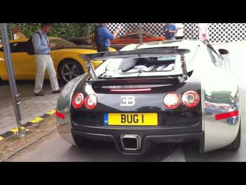 Bugatti Veyron vs Bugatti Veyron Roadster vs Mercedes SLS AMG vs Ferrari 458 Italia and 599 GTO!!!