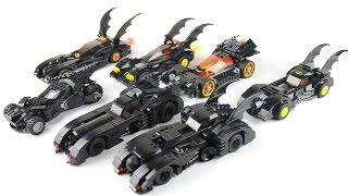 getlinkyoutube.com-Lego Batmobile Collection Showcase / Highlight